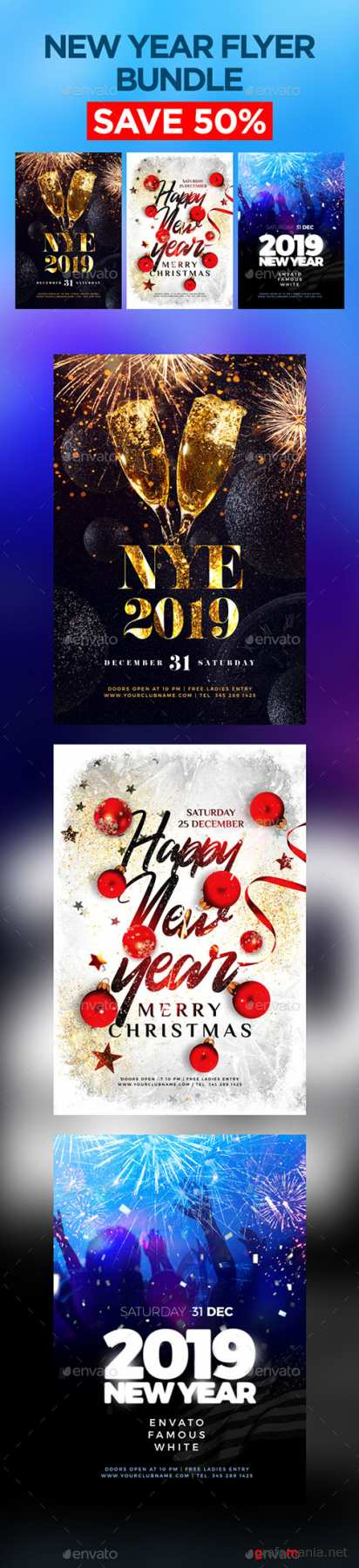GR - New Year Flyer Bundle 22930630