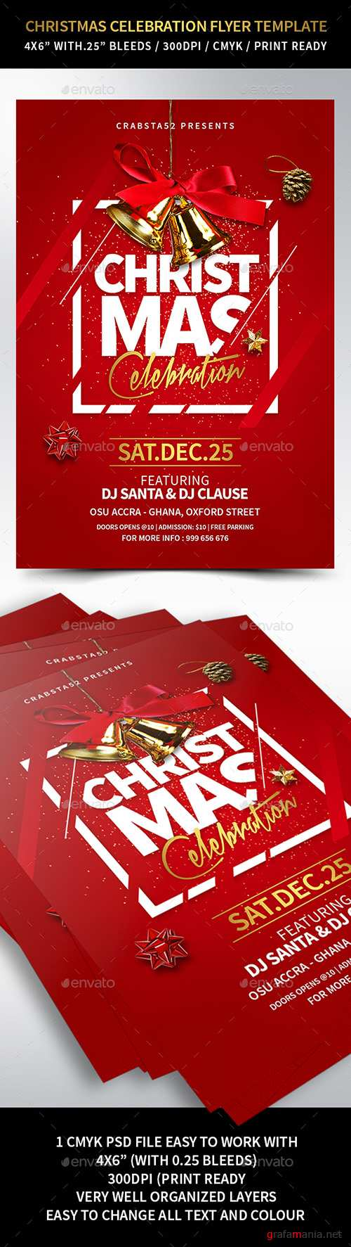 GR - Christmas Celebration Flyer Template 22931714