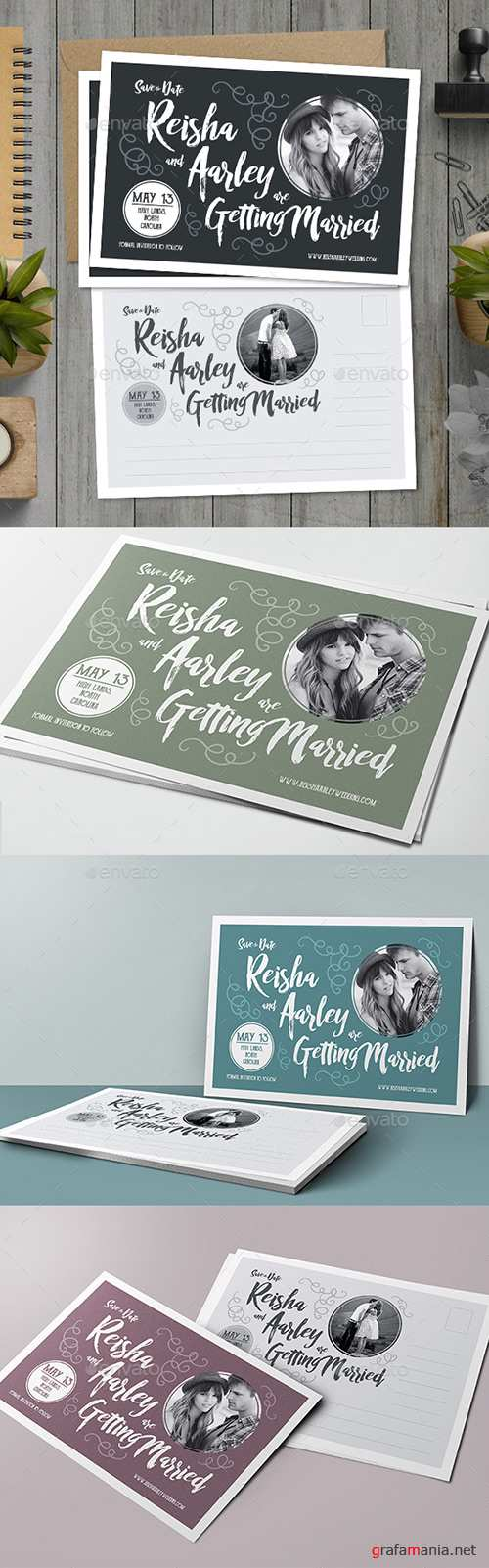 Graphicriver - Save the Date Post Card 18299259