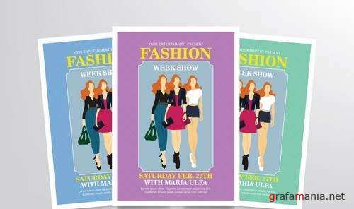 Fashion Week Flyer Template Vol. 2
