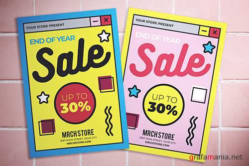 End Of Year Sale Flyer PSD
