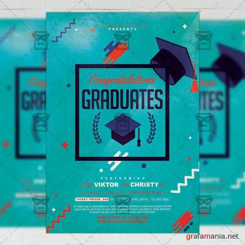 Seasonal A5 Template - Graduation Party Flyer