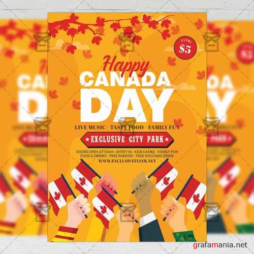 Club A5 Template - Canada Day Flyer