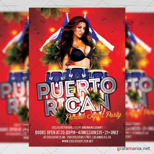 Community A5 Template - Puerto Rican Parade After Party Flyer
