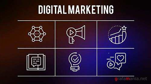 Digital Marketing - 25 Outline Icons 149566