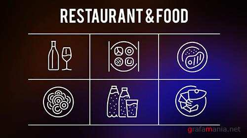 Restaurant And Food - 25 Outline Icons 149606
