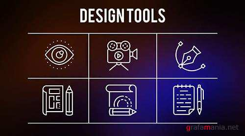 Design Tools - 25 Outline Icons 149560