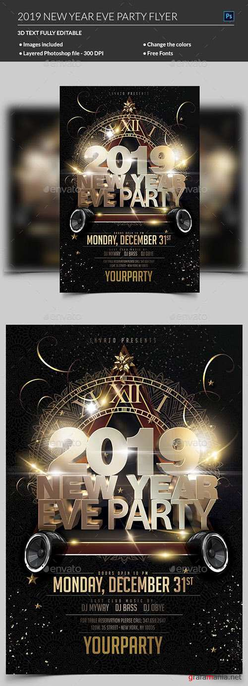 GraphicRiver - New Year Party Flyer 22734567