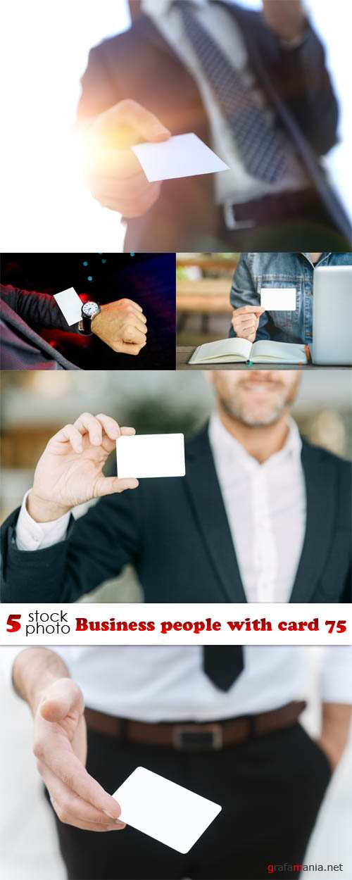 Растровый клипарт - Business people with card 75