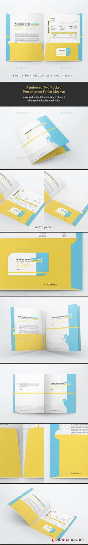 GR - Reinforced Two Pocket Presentation Folder Mockup 23076382