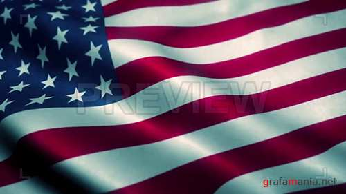 MA - American Flag Blowing 134917
