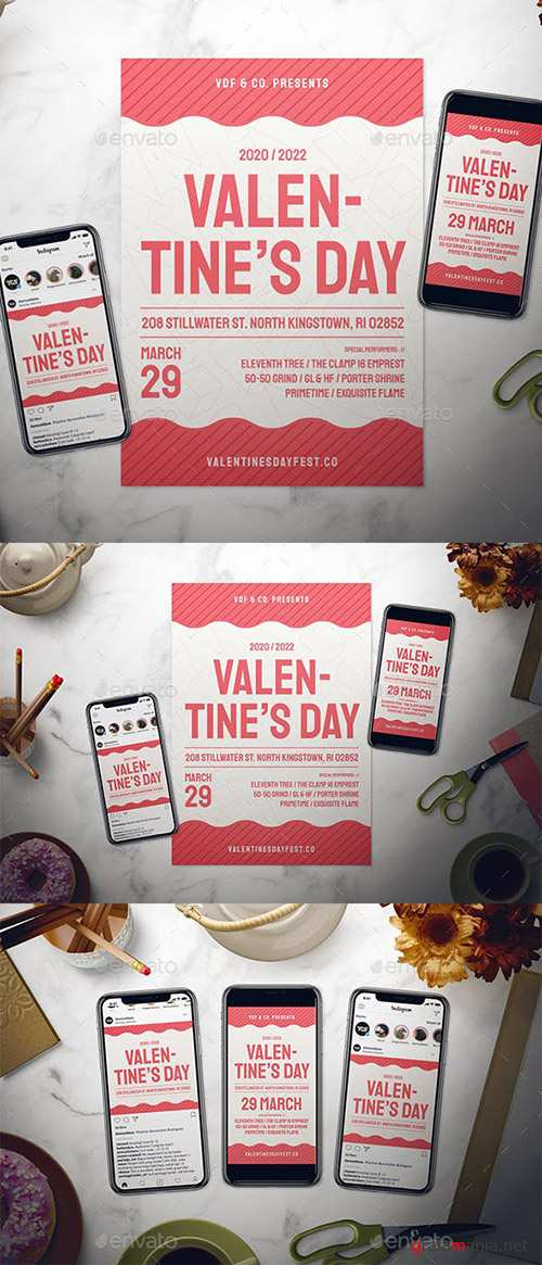 Valentine's Day Flyer Set