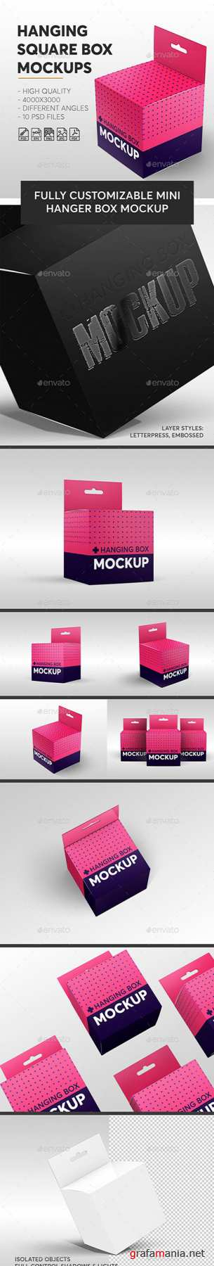 GR - Hanging Square Box Mockups V.1 | Miscellaneous 23078385