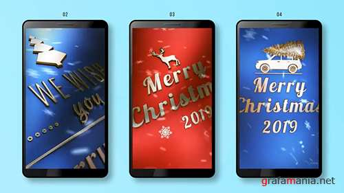 MA - Vertical Christmas Badges 140172