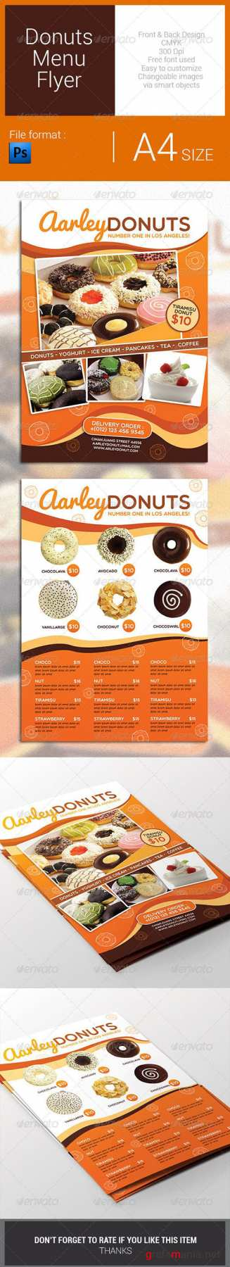 GR - Donuts Menu Flyer 7823541