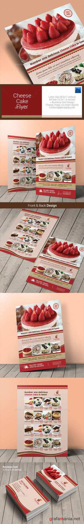 GR - Cheese Cake Menu Flyer 10640856