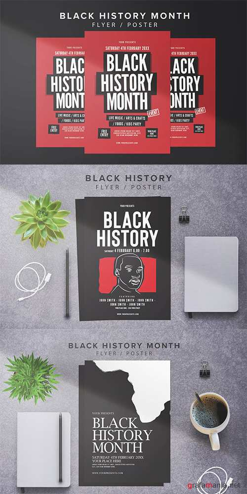 3 Black History Month Flyers