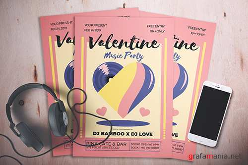 Valentine Music Party Flyer