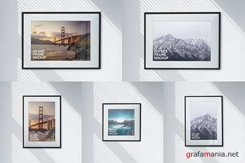 Photo Poster Frames Mockups vol.1