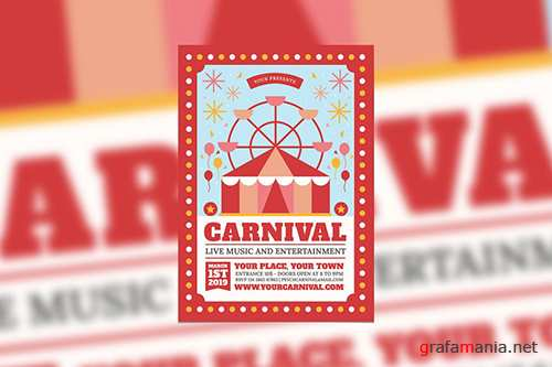 PSD Carnival Event Flyer