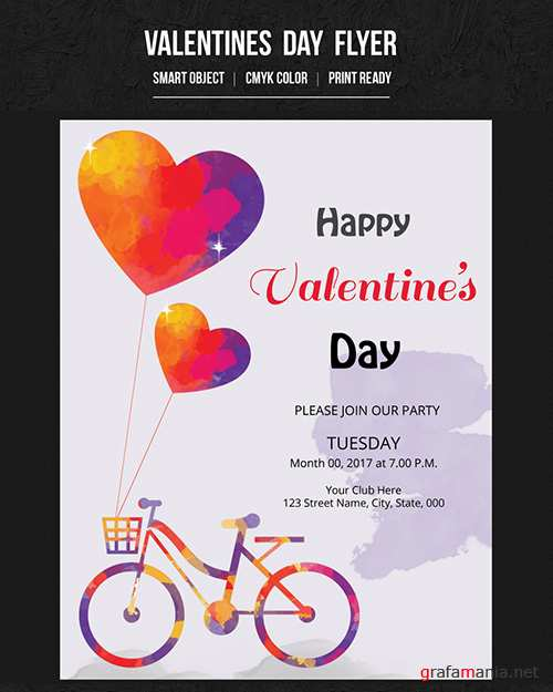 Valentine's Day Party Flyer 12 188715305