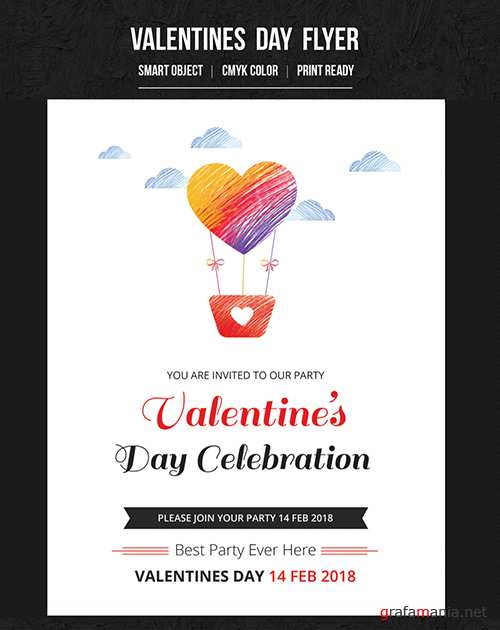 Valentine's Day Party Flyer 11 188715284
