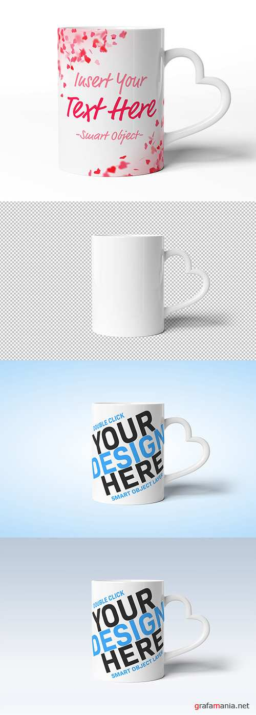 PSDT Mug with Heart Shaped Handle Mockup 247831860