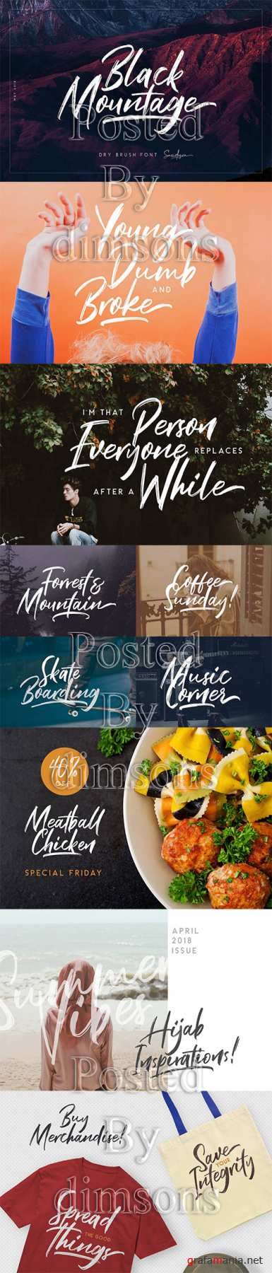CM - Black Mountage - Brush Font 2573418