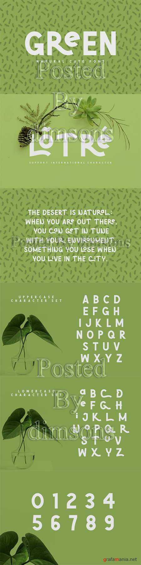 CM - Green | Natural Cute Font 3323636