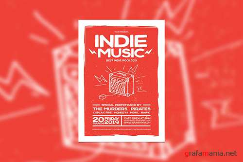 Indie Music Concert PSD