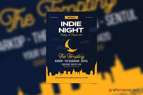 Indie Night PSD