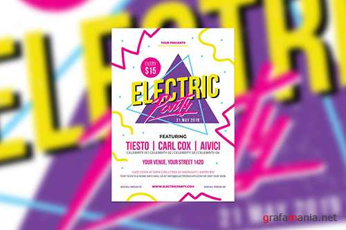 Retro Electirc Party PSD