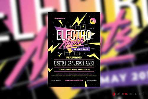 Retro Electro Nights PSD