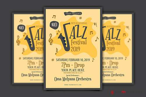 International Jazz Festival Flyer PSD