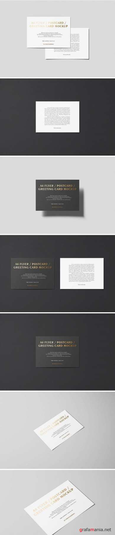 A6 Flyer / Postcard / Greeting Card Mockup