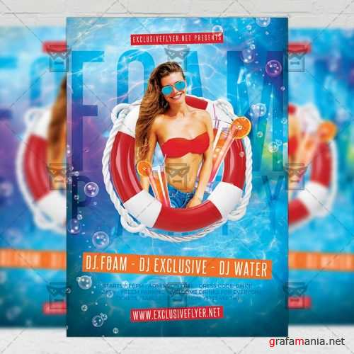 Club A5 Template - Foam Party Night Flyer