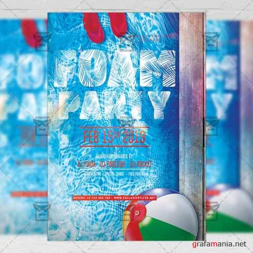 Club A5 Template - Foam Night Party Flyer