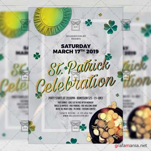 Seasonal A5 Template - Saint Patrick Celebration Flyer
