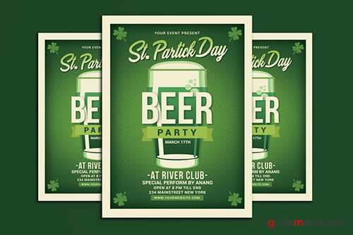 Saint Patrick Day Beer Party