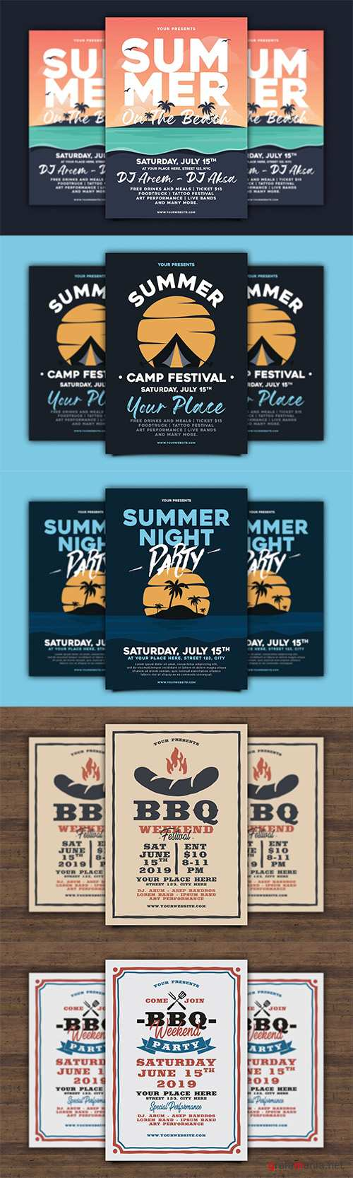 Summer and BBQ Flyers