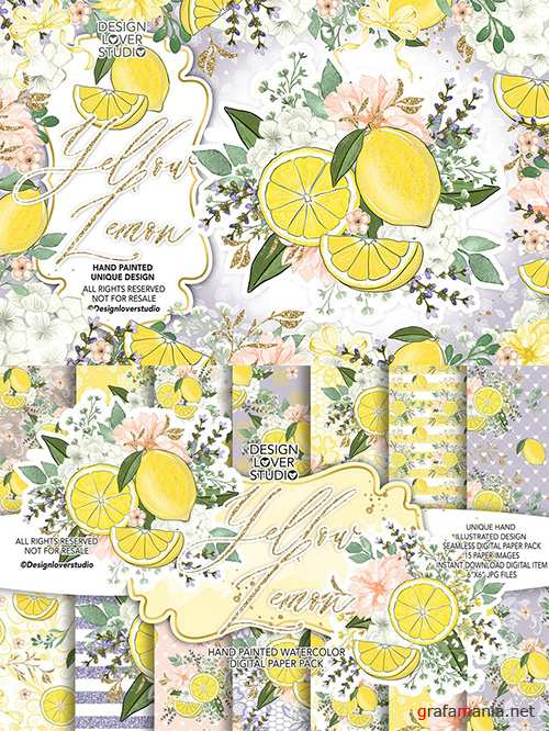 Yellow Lemon design