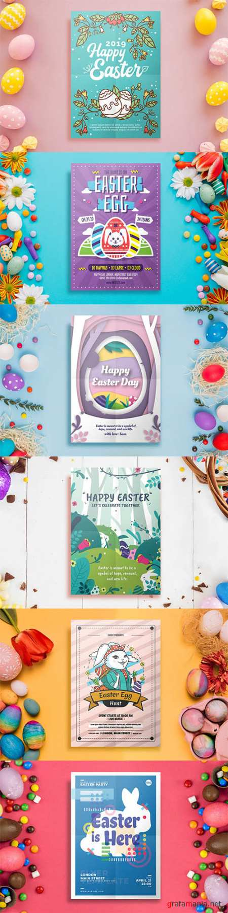 6 Easter Flyer Templates