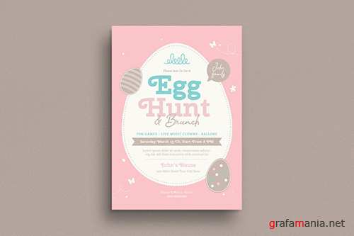 Easter Egg Hunt & Brunch Flyer