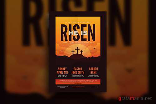 He is Risen Church Flyer