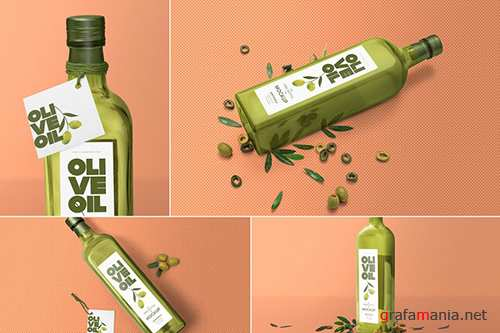 Customizable Glass Bottle Mockups