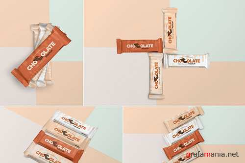 Luscious Chocolate Packaging Mockups