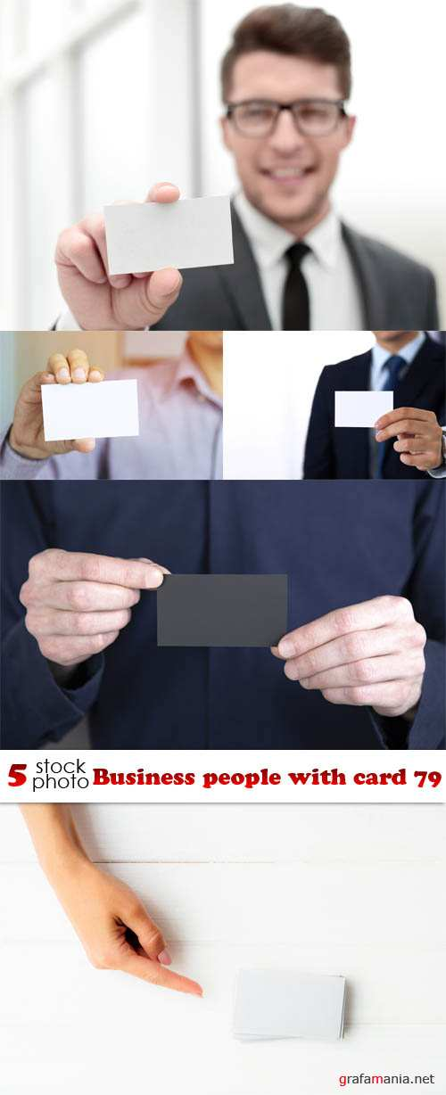 Растровый клипарт - Business people with card 79