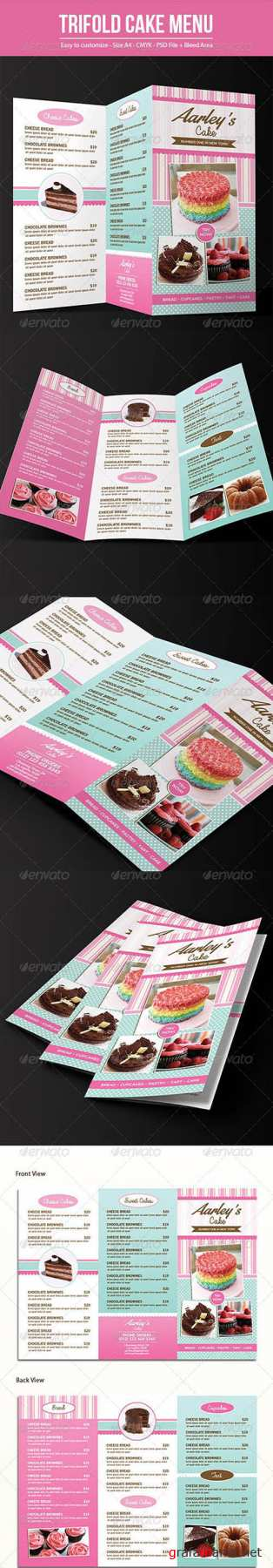 GR - Trifold Cake Menu + Business Card 7642416