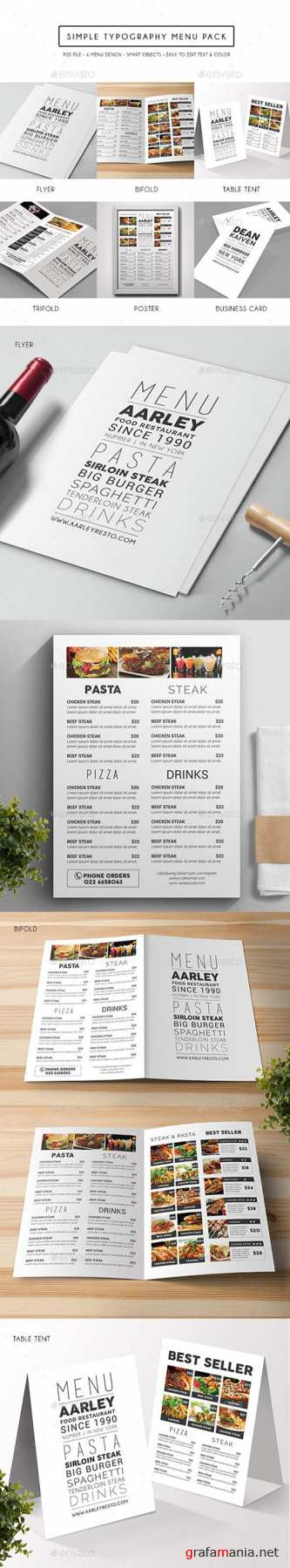 GR - Simple Typography Menu Pack 15103580
