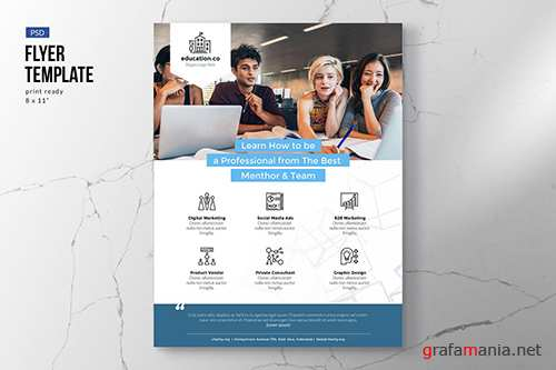 Education & Courses Flyer Template PSD